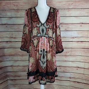 Ranna Gill Anthropologie Boho Dress Size 8